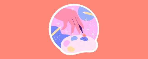 Formación creativa pintar ilustracion